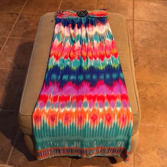 HeartSoul Dresses & Skirts - Beaded halter maxi dress